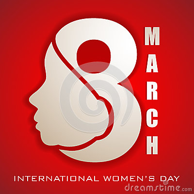 Happy Women s Day greeting card