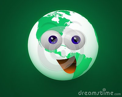 Happy world icon character
