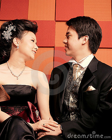 Happy Young Asian Couple