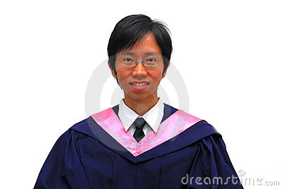 Happy, young Asian student graduate
