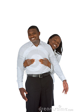 Happy young black couple