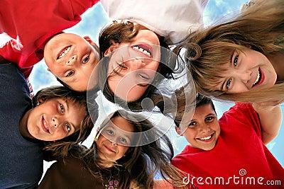 Happy Young Children Having Fun