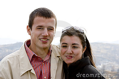 Happy, young couple