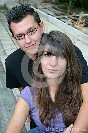 A happy young couple