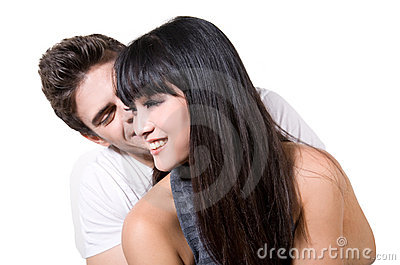 Happy young couple (with clipping path)