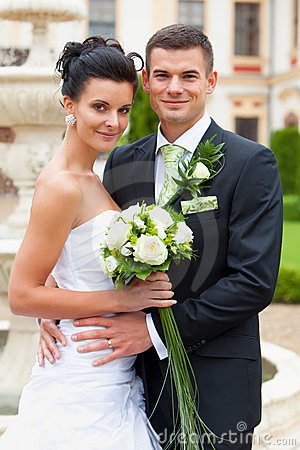Happy young couple  married