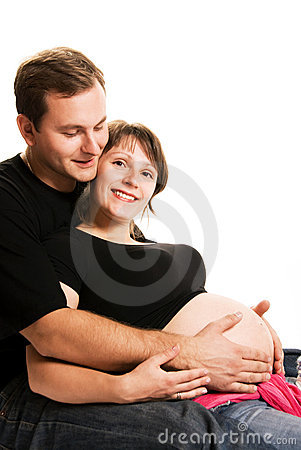Happy young couple waiting for a baby