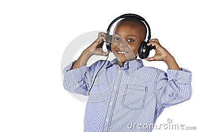 Happy Young DJ Closeup