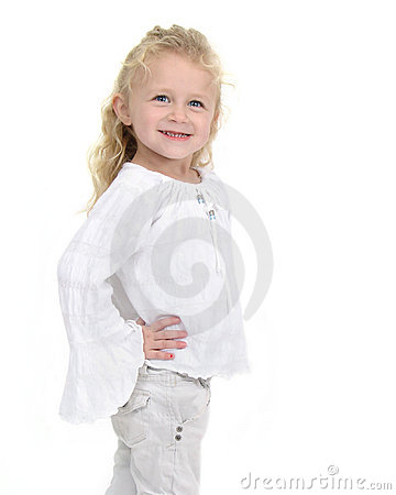Happy young female toddler