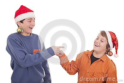 Happy young friends laughing
