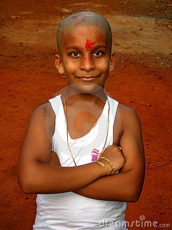 Happy young Indian boy