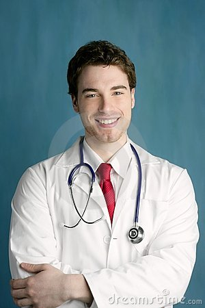 Free Happy Young Male Doctor Man Smile Handsome Stock Photography - 15357662