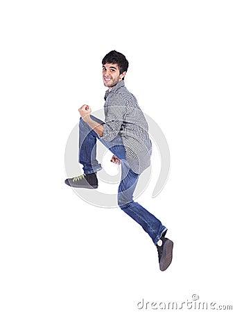 Happy young man jump