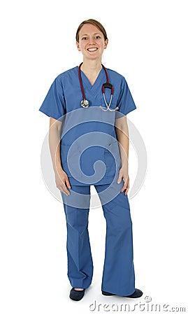 Happy young nurse