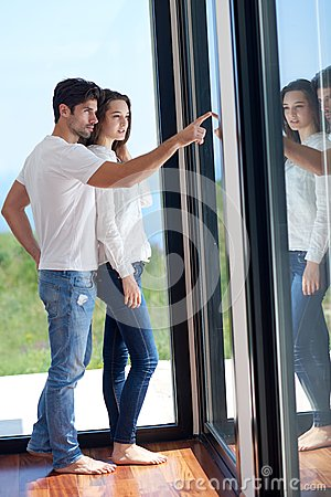 Free Happy Young Romantic Couple Have Fun Arelax  Relax At Home Stock Photo - 55889270