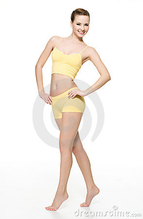 Free Happy Young Woman With Perfect Slim Body Royalty Free Stock Photos - 17367968