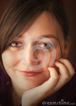 Free Happy Young Womans Portrait Royalty Free Stock Image - 44061486