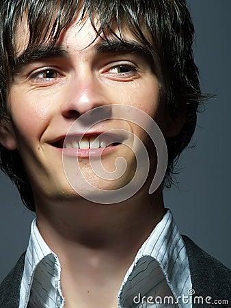 Happy youthful man