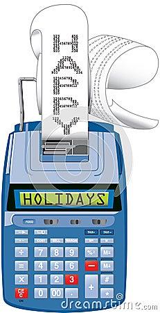 Hapy Holidays adding machine