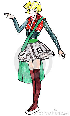 Free Harajuku Girl Royalty Free Stock Image - 5252846