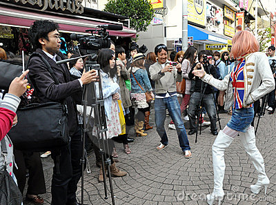 Harajuku Lolita Girl Editorial Stock Photo