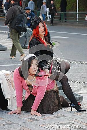 Harajuku style street fashion Editorial Photography