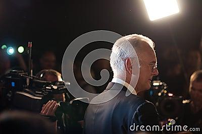 Harald Schmidt interviews Editorial Stock Image