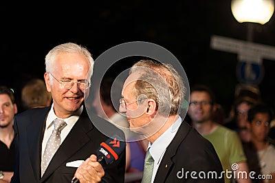 Harald Schmidt interviews Wolfgang Schuster Editorial Photography