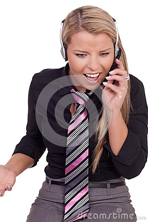Harassed call centre operator