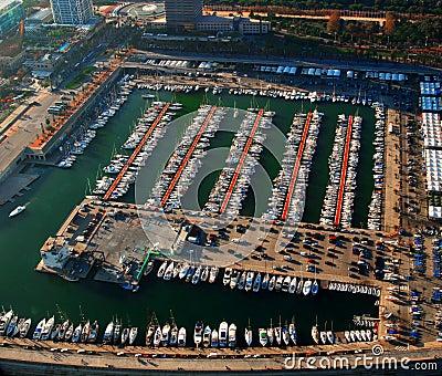 Harbor in Barcelona