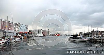 Harbor of Bergen, Norway.