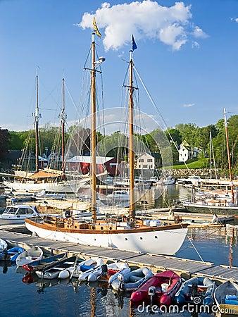 Free Harbor Boats, Camden Maine Royalty Free Stock Photography - 14373967