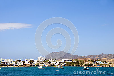 Harbor cyclades architecture Pollonia Milos Greece