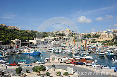 Harbor, Gozo island, Malta. Editorial Stock Image