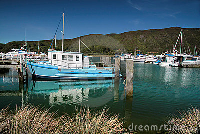 Harbor of Havelock in the Marlborough Sounds