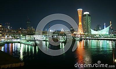 The harbor of Kobe in Japan