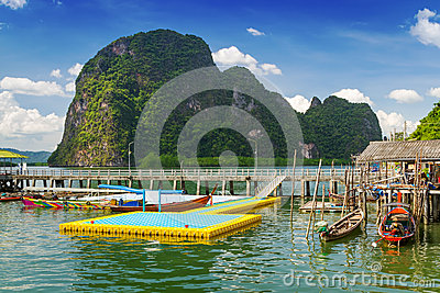 Harbor in Koh Panyee settlement, Thailand