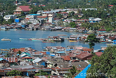 Harbor in Manokwari Editorial Image