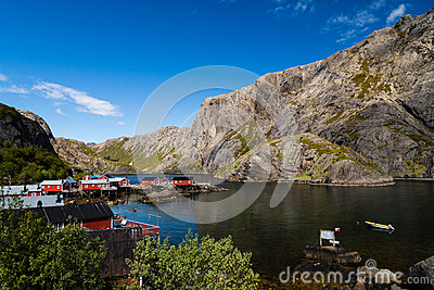Harbor in the mountains in Norway