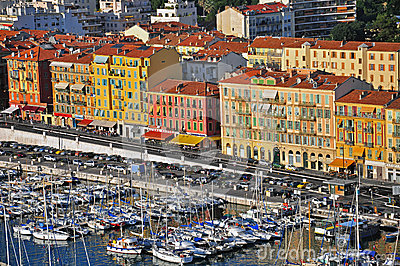 Harbor in Nice Editorial Image