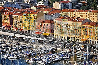 Harbor in Nice Editorial Image