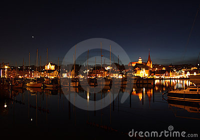 Harbor at night