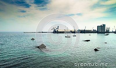 Harbor and ocean