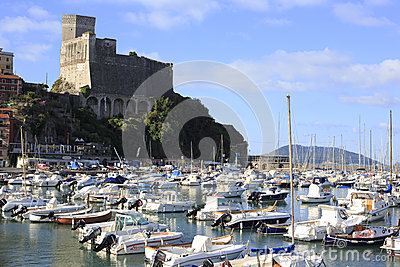 Harbor and old town of lerici Editorial Photography