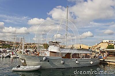 Harbor in Palau. Editorial Image