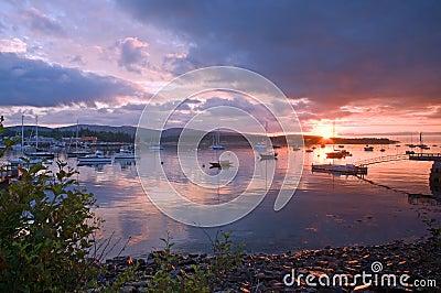 Harbor at sunrise