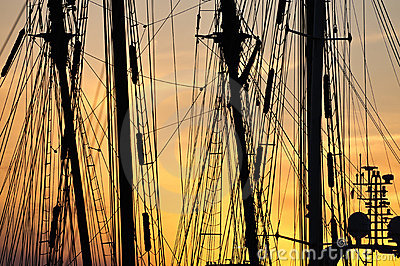 Harbor Sunset Stock Image - Image: 12962051