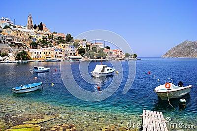 Harbor at Symi, Greece