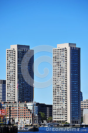Harbor Towers in Boston Editorial Stock Image