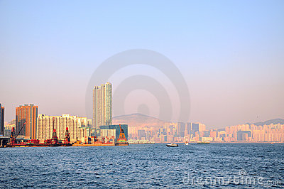 Harbor of Victoria, Hongkong